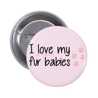 Amo mi botón de los bebés de la piel pin