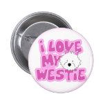 Amo mi botón de Westie Pins