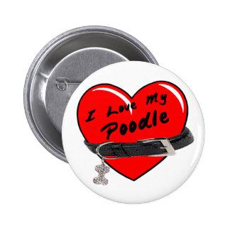 Amo mi botón del caniche
