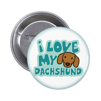 Amo mi botón del Dachshund Pin