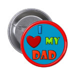 Amo mi botón del papá pins