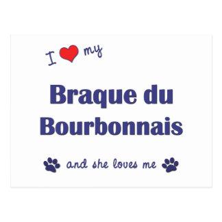 Amo mi Braque du Borbonés (el perro femenino) Tarjetas Postales