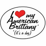 Amo mi Bretaña americana (es un perro) Escultura Fotográfica
