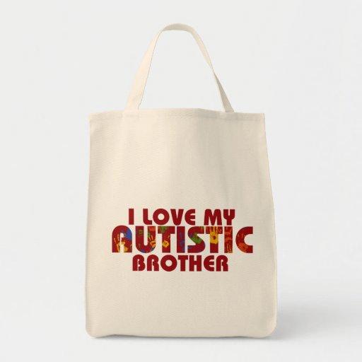 Amo mi Brother autístico Bolsa De Mano