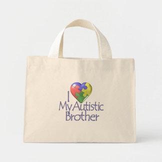 Amo mi Brother autístico Bolsa Tela Pequeña