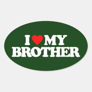 AMO MI BROTHER PEGATINA OVALADA