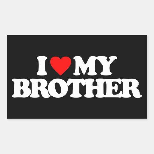 AMO MI BROTHER RECTANGULAR PEGATINA