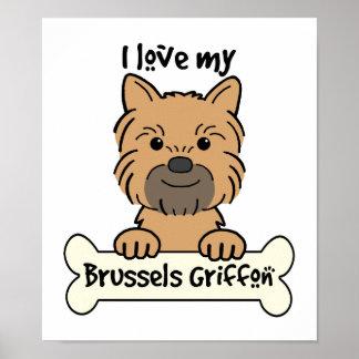 Amo mi Bruselas Griffon Poster