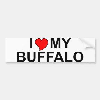 Amo mi búfalo pegatina de parachoque