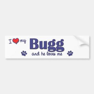 Amo mi Bugg (el perro masculino) Etiqueta De Parachoque