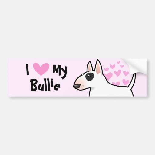 Amo mi bull terrier pegatina para auto