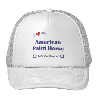 Amo mi caballo americano de la pintura (el caballo gorros bordados