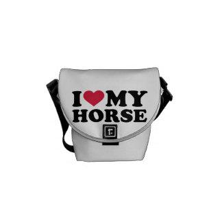 Amo mi caballo bolsa messenger