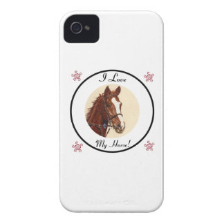 ¡Amo mi caballo! Caja de la casamata de Blackberry Funda Para iPhone 4 De Case-Mate