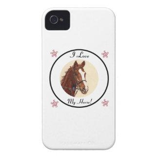 ¡Amo mi caballo! Caja de la casamata de Blackberry iPhone 4 Case-Mate Fundas