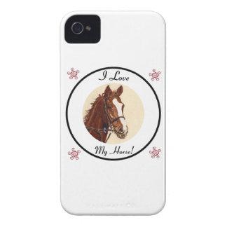 ¡Amo mi caballo! Caja intrépida de Blackberry iPhone 4 Coberturas