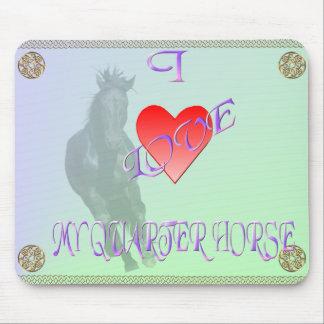 Amo mi caballo cuarto Mousepad Alfombrillas De Ratón