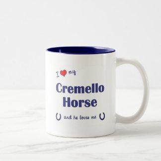 Amo mi caballo de Cremello (el caballo masculino) Tazas De Café