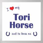 Amo mi caballo de los toros (el caballo masculino) impresiones