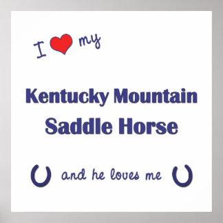 Amo mi caballo de silla de montar de la montaña de impresiones