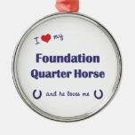 Amo mi caballo del cuarto de la fundación (el caba ornamentos para reyes magos