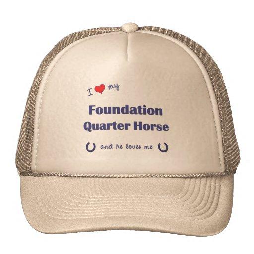 Amo mi caballo del cuarto de la fundación (el caba gorros bordados
