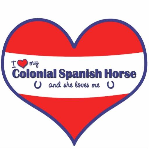 Amo mi caballo español colonial (el caballo femeni escultura fotográfica