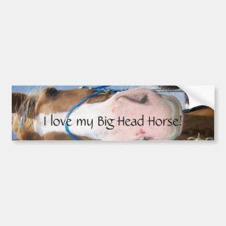 ¡Amo mi caballo principal grande! Etiqueta De Parachoque