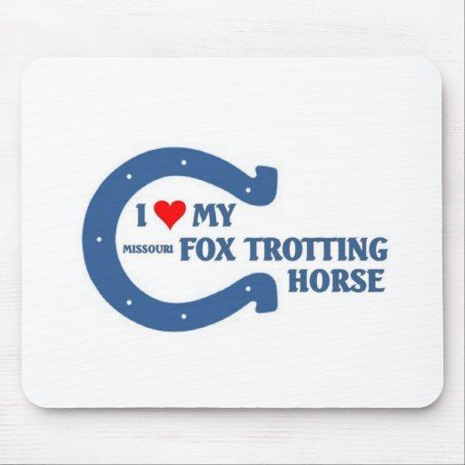 Amo mi caballo que trota del zorro tapete de raton