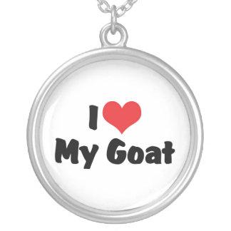 Amo mi cabra colgante redondo