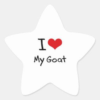 Amo mi cabra calcomanías forma de estrella