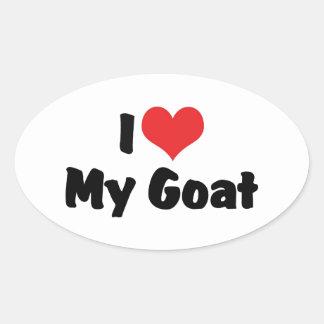 Amo mi cabra colcomanias óval