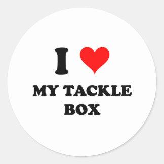 Amo mi caja de aparejos etiquetas