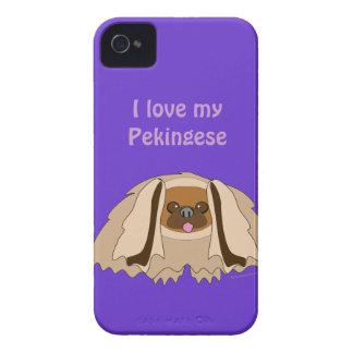 Amo mi caja de encargo del teléfono del perro de carcasa para iPhone 4 de Case-Mate