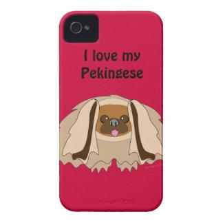 Amo mi caja de encargo del teléfono del perro de funda para iPhone 4