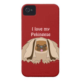 Amo mi caja de encargo del teléfono del perro de P iPhone 4 Funda