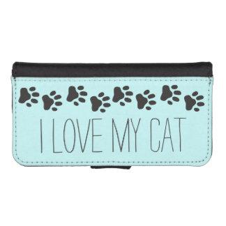 Amo mi caja de la cartera del iPhone 5 del gato Billetera Para iPhone 5