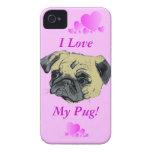 Amo mi caja de la casamata del iPhone 5 del barro  Case-Mate iPhone 4 Protectores
