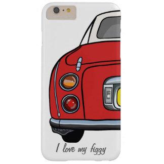 Amo mi caja roja figgy del iphone 6 del coche funda de iPhone 6 plus barely there