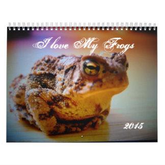 Amo mi calendario impreso personalizado de las