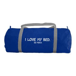 Amo mi cama - novedad divertida bolsa de deporte