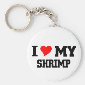 Amo mi camarón llavero redondo tipo pin