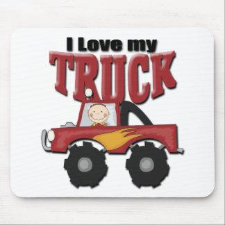Amo mi camión alfombrilla de ratones