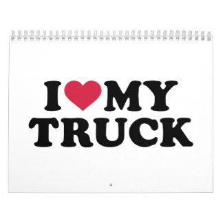 Amo mi camión calendario de pared