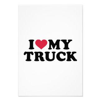 Amo mi camión invitación personalizada