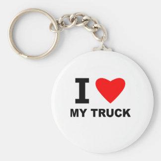 Amo mi camión llavero redondo tipo pin