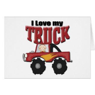 Amo mi camión tarjeta de felicitación