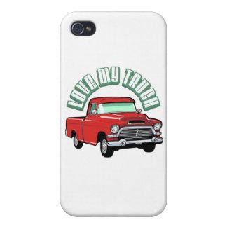 Amo mi camión - viejo, recogida roja clásica iPhone 4 cobertura