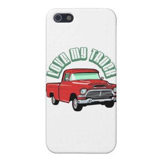 Amo mi camión - viejo, recogida roja clásica iPhone 5 fundas