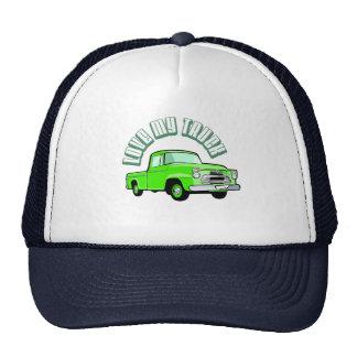 Amo mi camión - viejo, recogida verde clásica gorros bordados